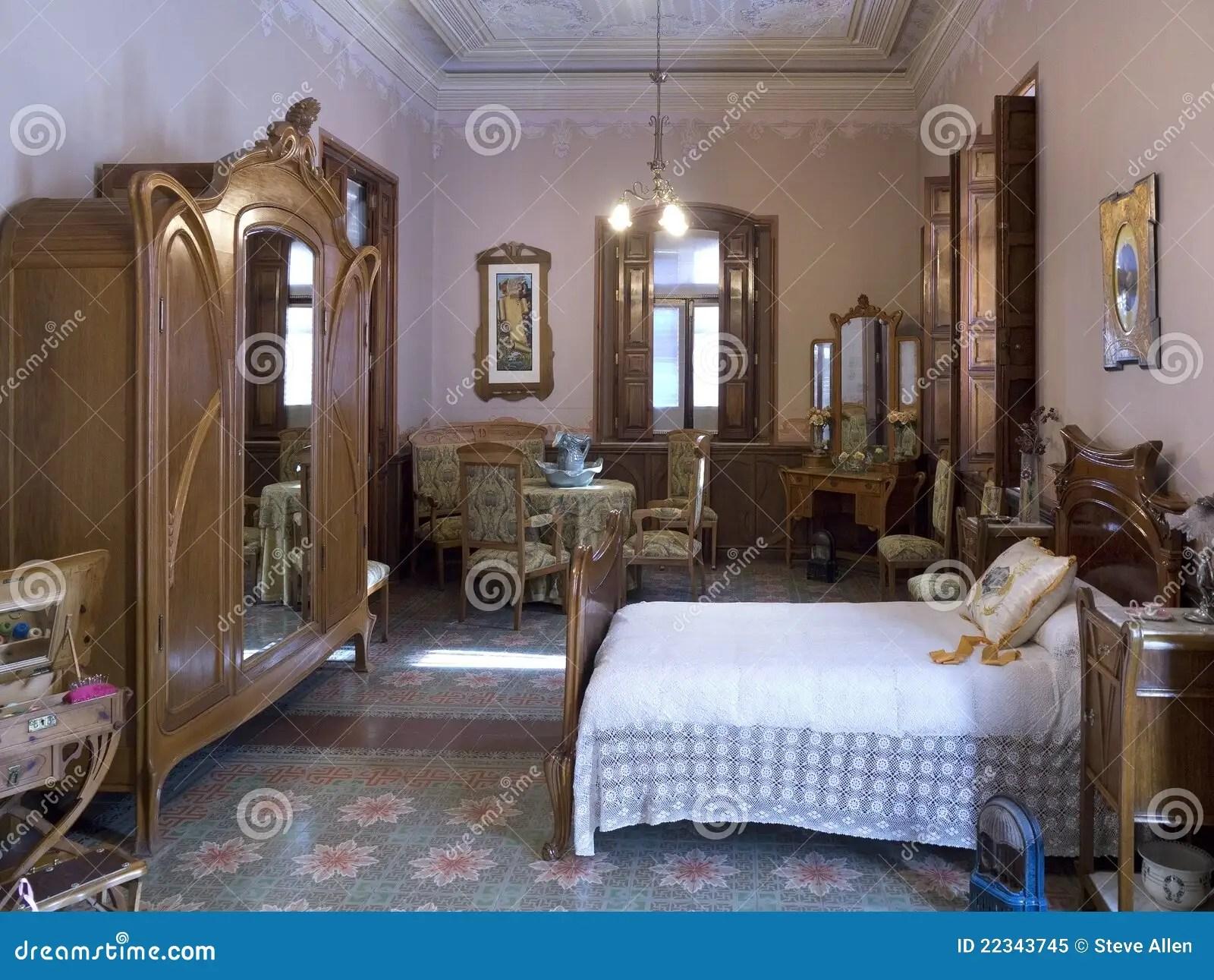 Art Nouveau Spanish Bedroom Interior Editorial Image Image Of Interior Furniture 22343745