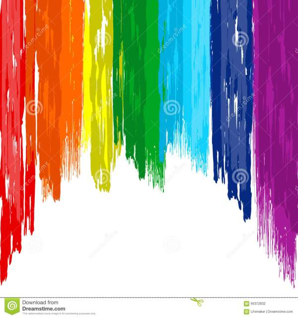 Art Rainbow Brush Abstract Color Background Stock Vector