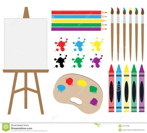 small resolution of art supplies clipart