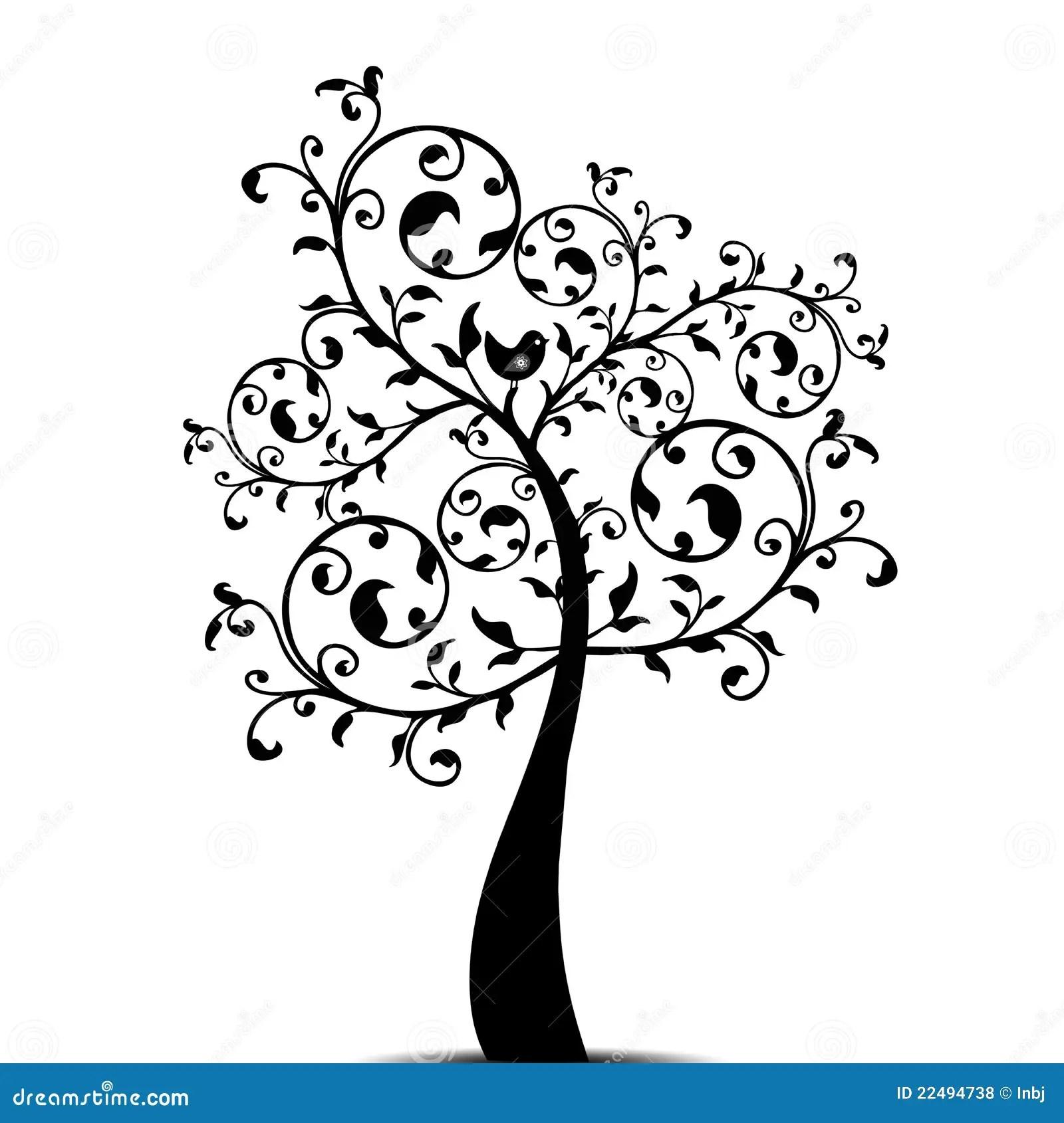 Art Tree Stock Vector Illustration Of Season Symbol