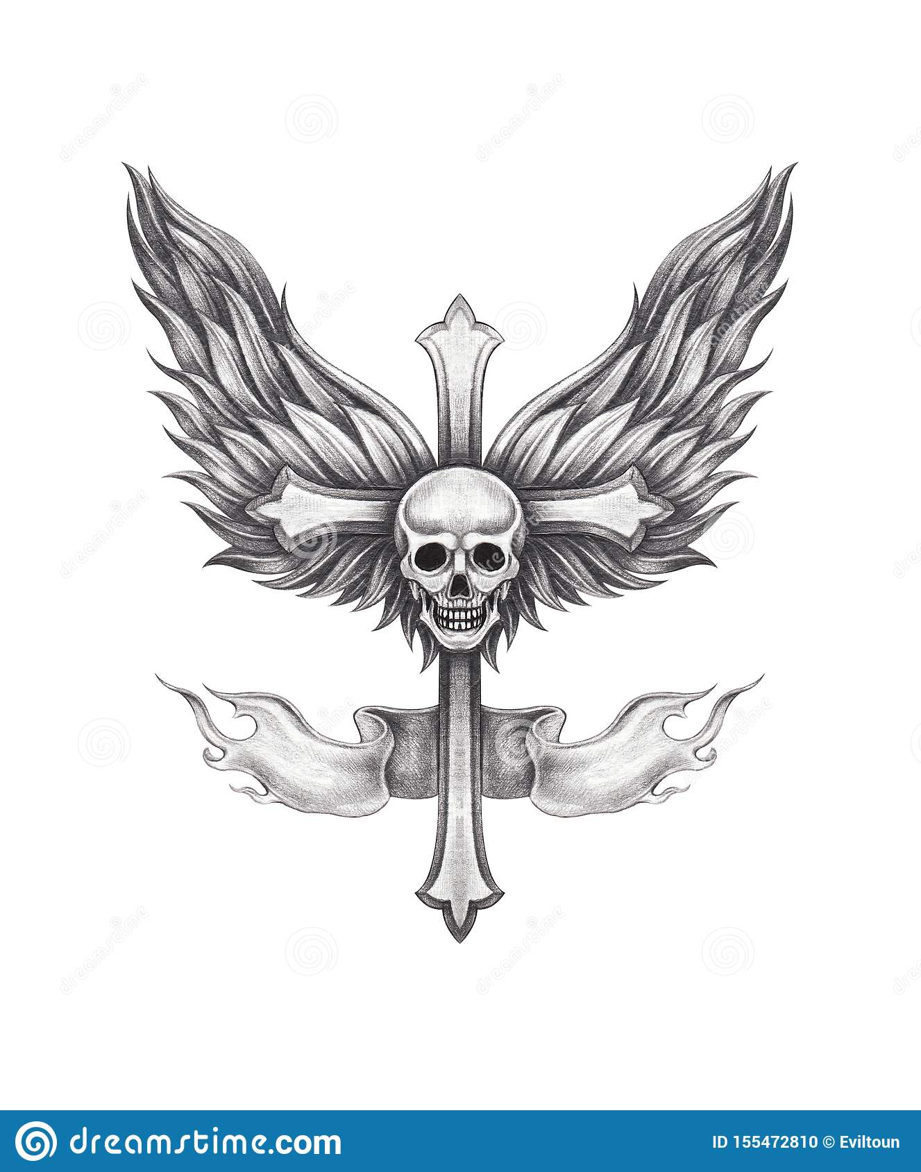 Cross With Angel Wings Drawing : cross, angel, wings, drawing, Angel, Wings, Cross, Stock, Illustrations, 1,275, Illustrations,, Vectors, Clipart, Dreamstime
