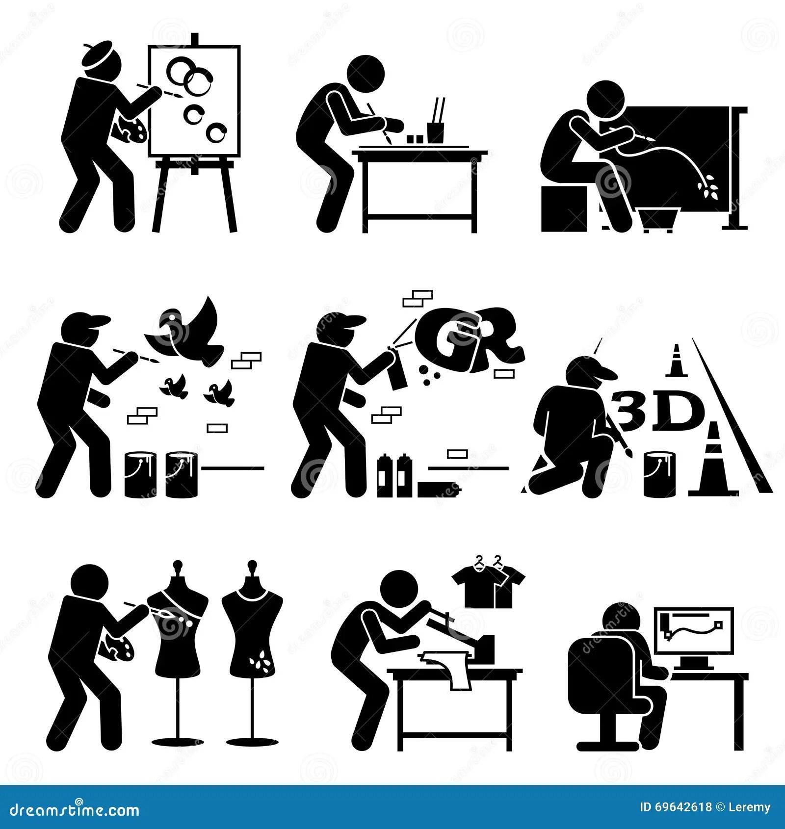 Artes Stickman Clipart De Graphic Designer Drawing Del