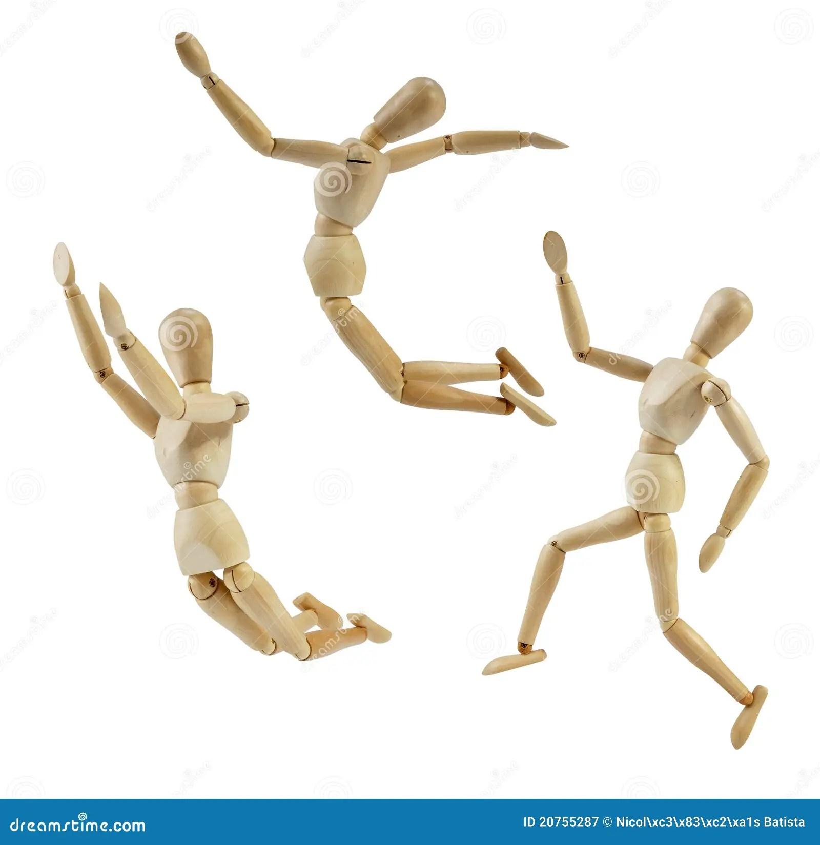 artist mannequin in jump