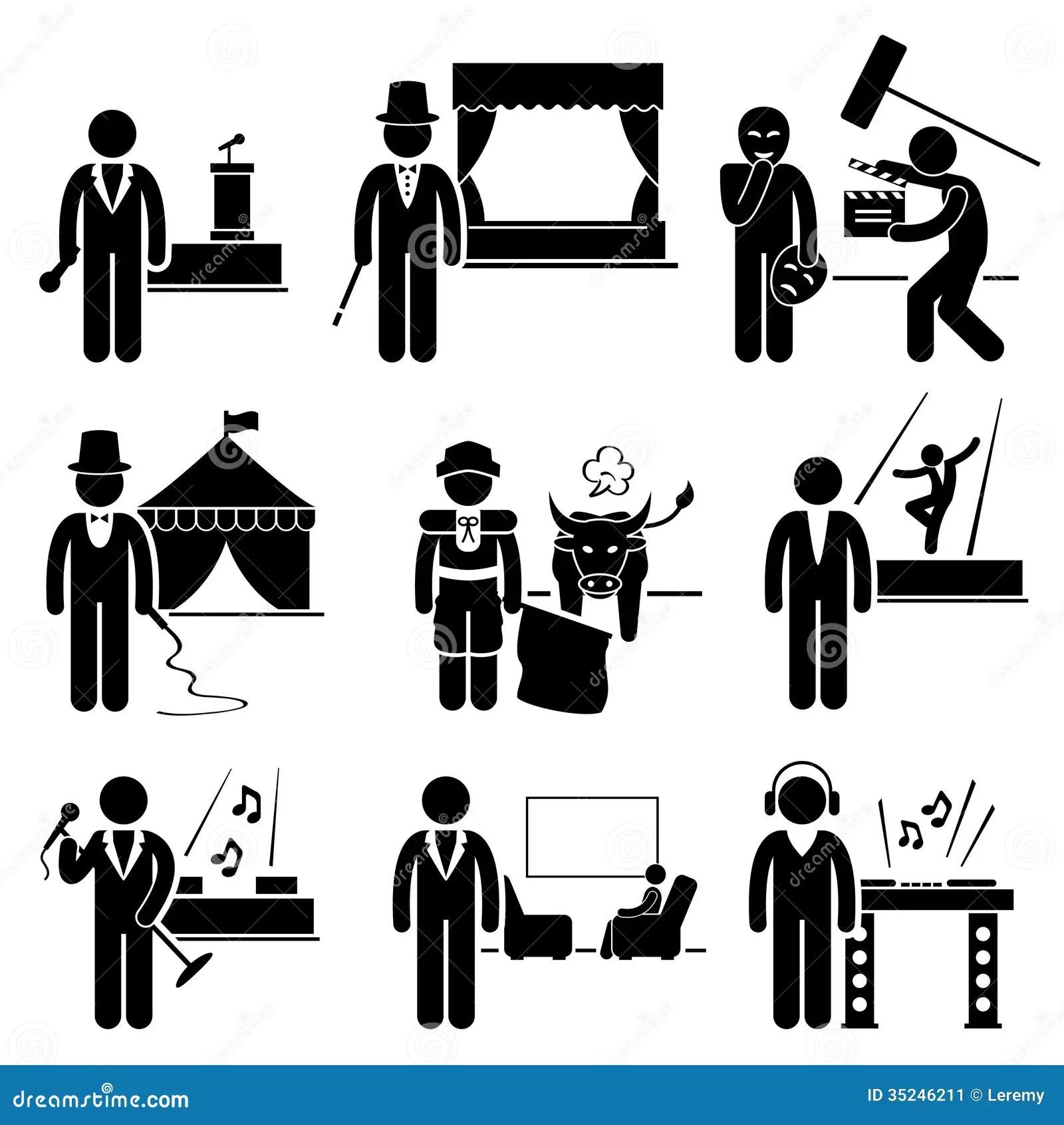 Artista Jobs Occupations Careers Do Entretenimento Imagem