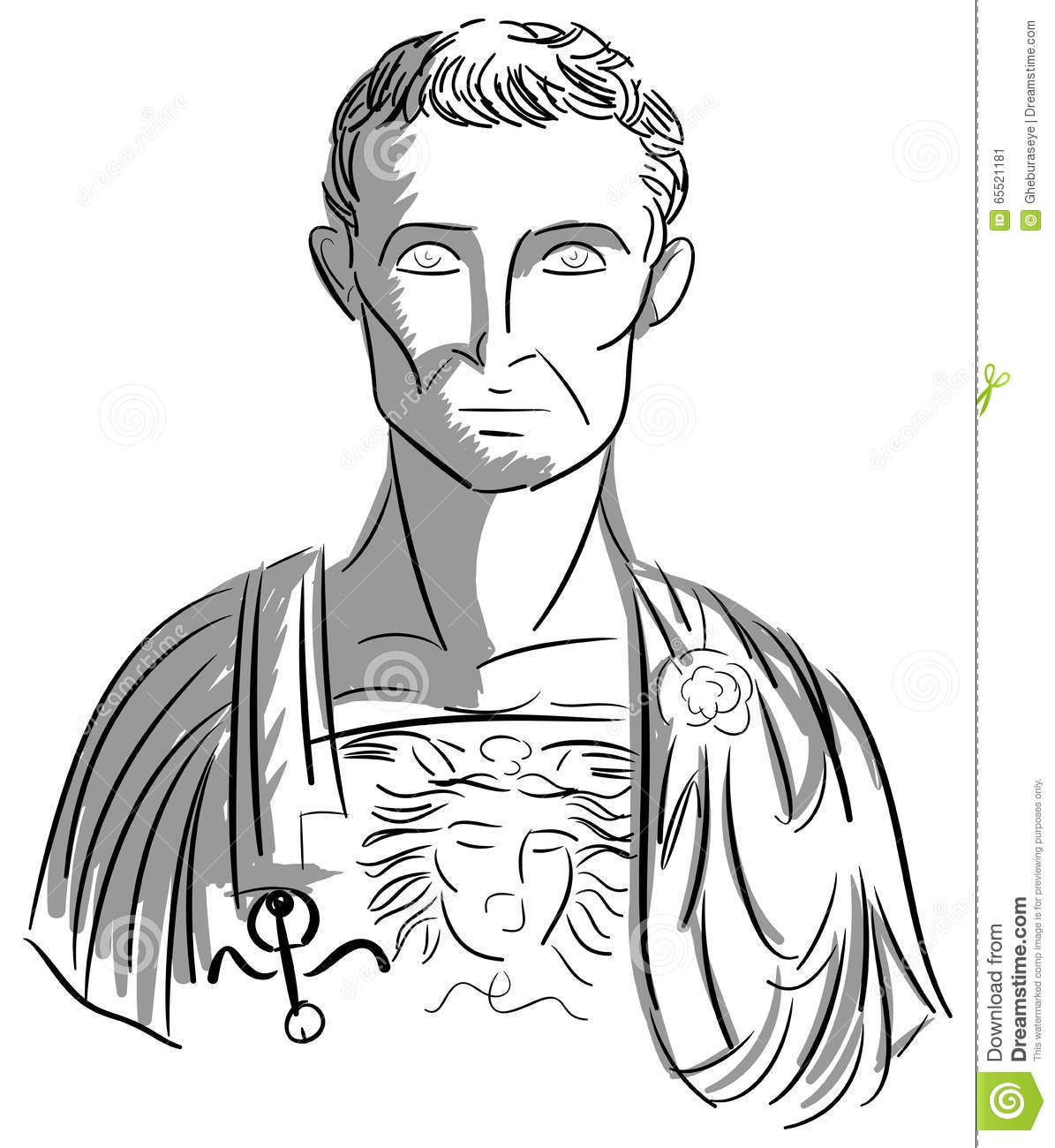 Artistic Portrait Of Julius Caesar Stock Vector