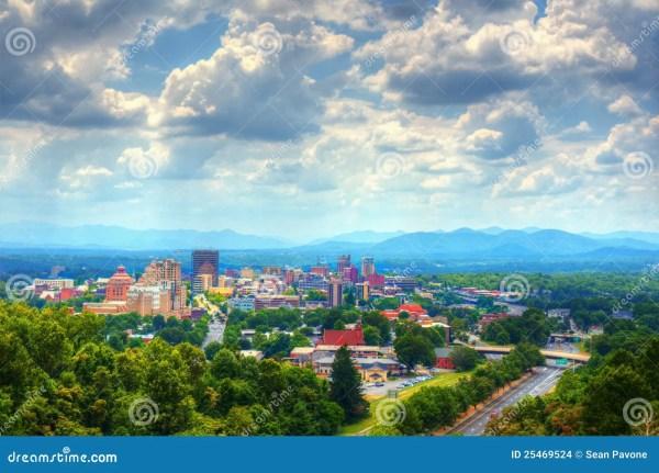 Asheville Skyline Stock - 25469524