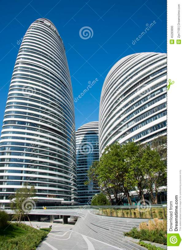 In Asia Beijing China Modern Architecture Wangjing Soho Editorial - Of