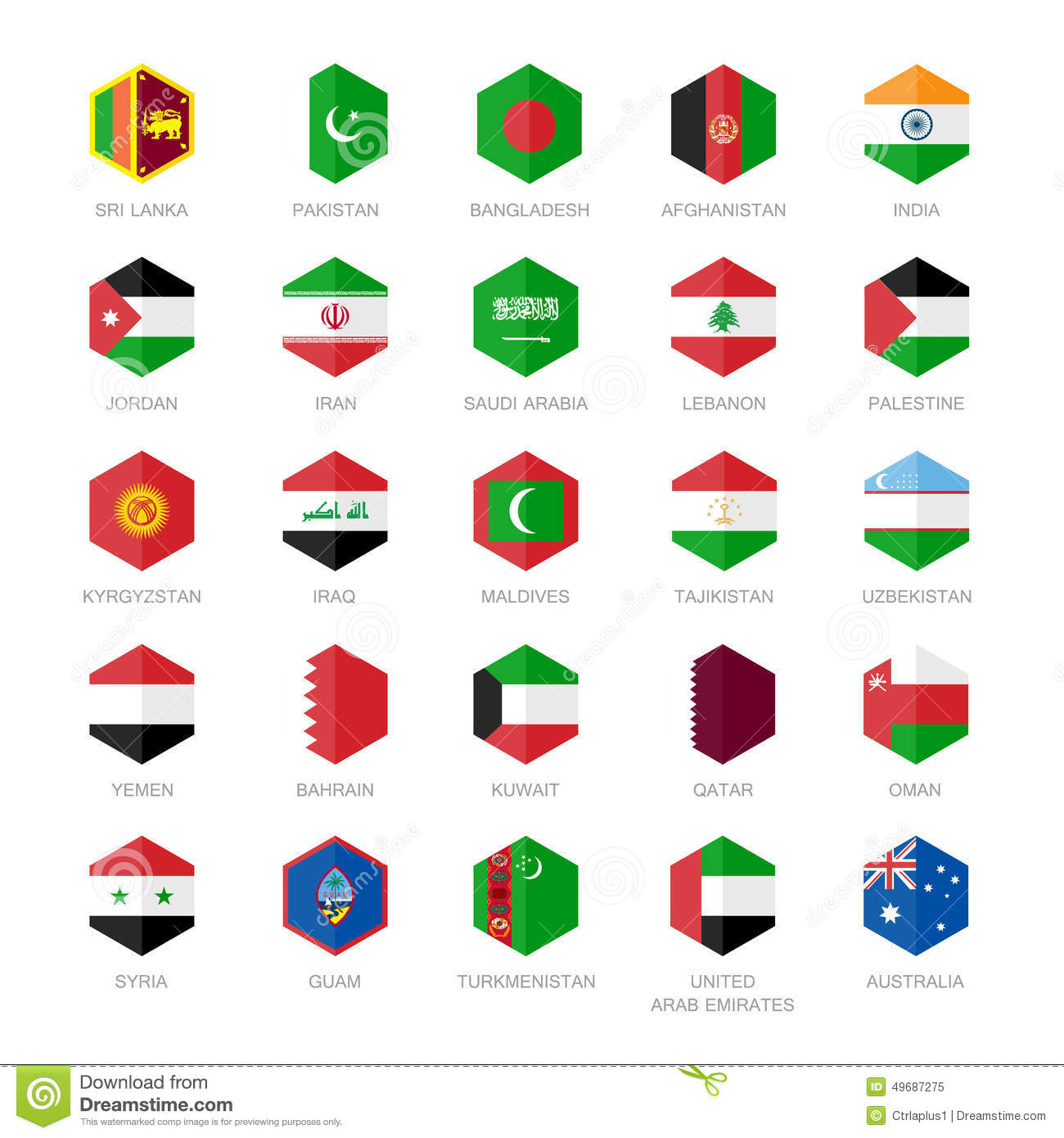 3d Bangladesh Flag Wallpaper Asia Middle East And South Asia Flag Icons Hexagon Flat