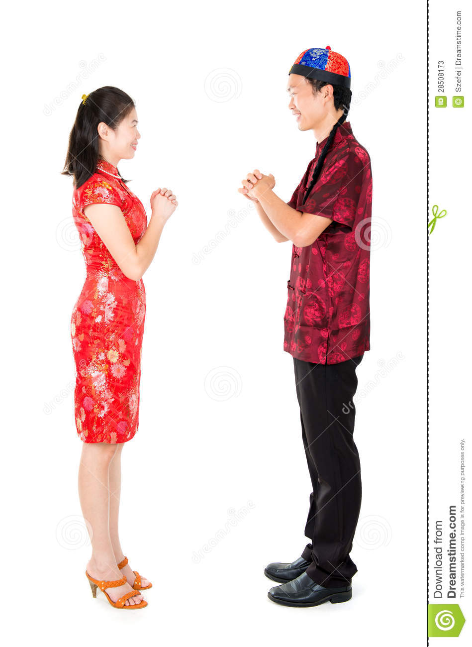 asian chinese people greeting stock photos