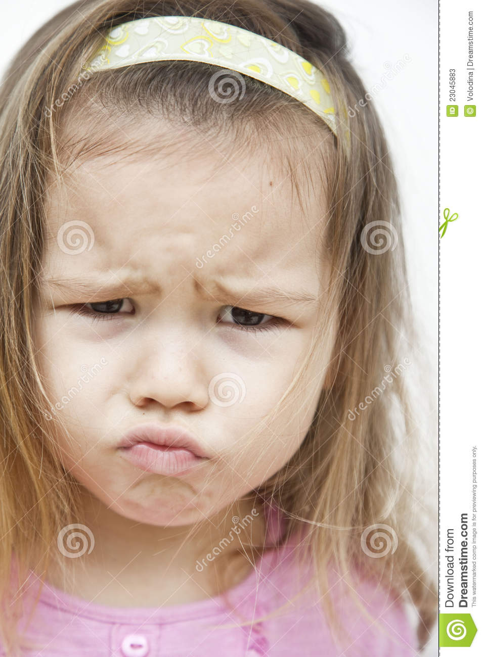 Asian girls who grimaces stock image. Image of emotions - 23045883