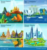 Asian Design Elements Vector Illustration