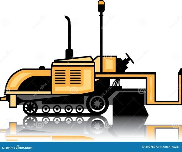 asphalt paver vector cartoon
