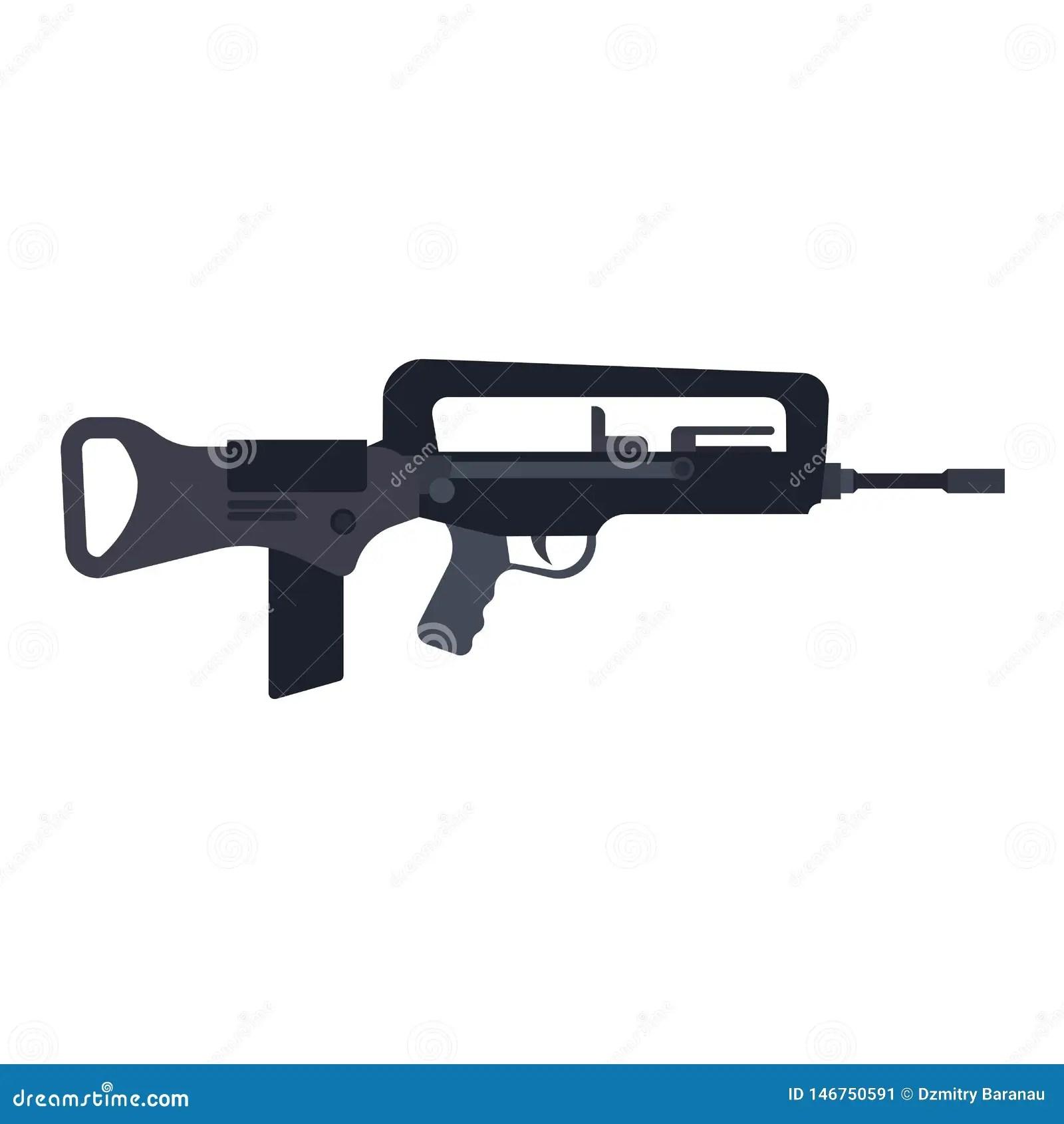 assault rifle gum vector