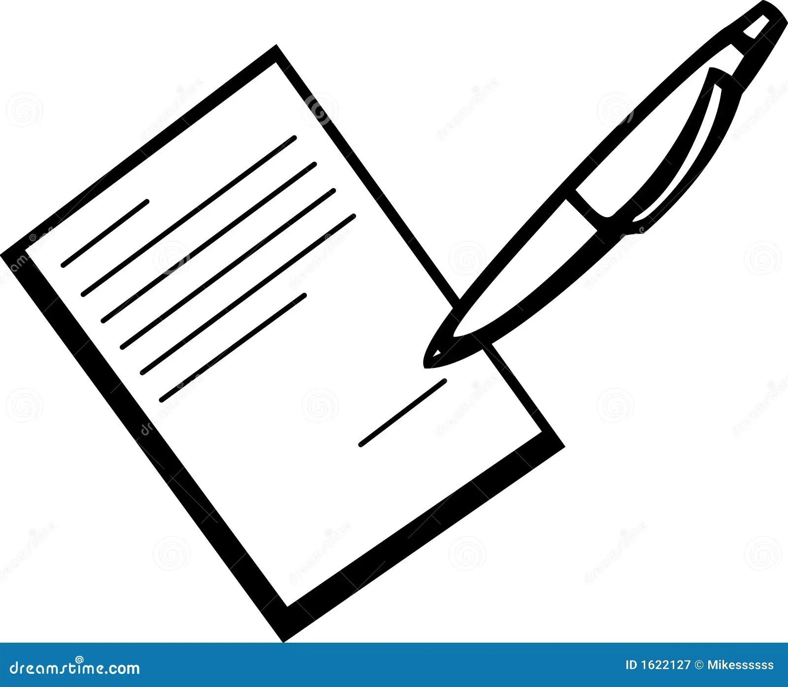 Assinando um contrato ilustração do vetor. Ilustração de