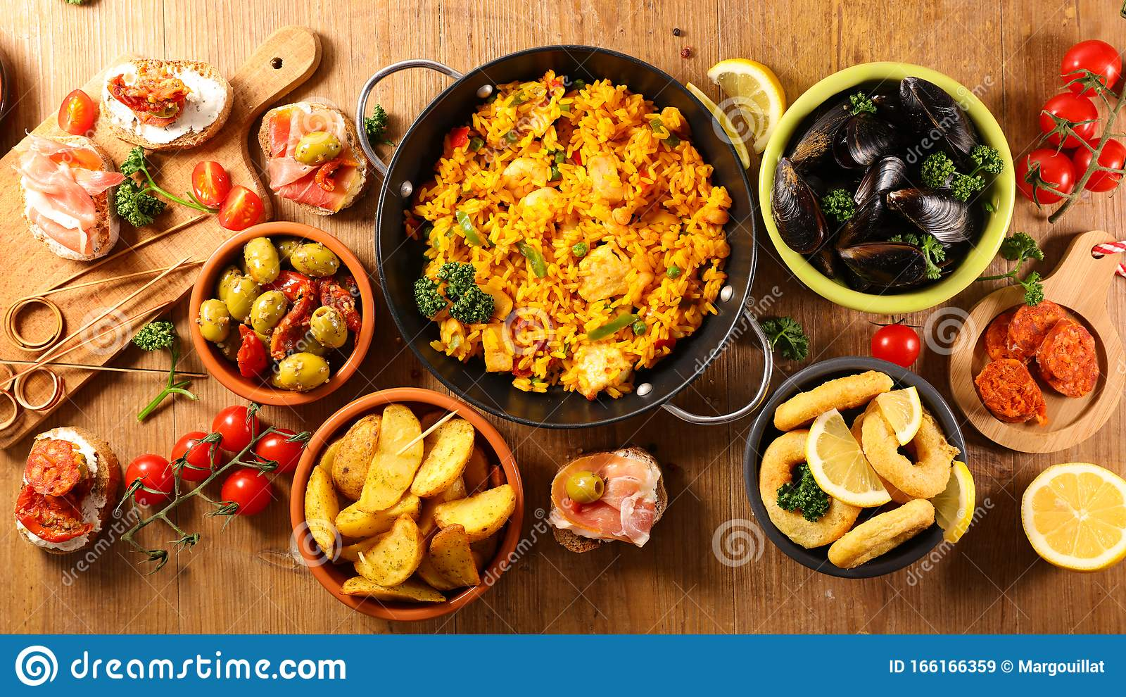 Assorted Of Spanish Food Stock Image Image Of Ring