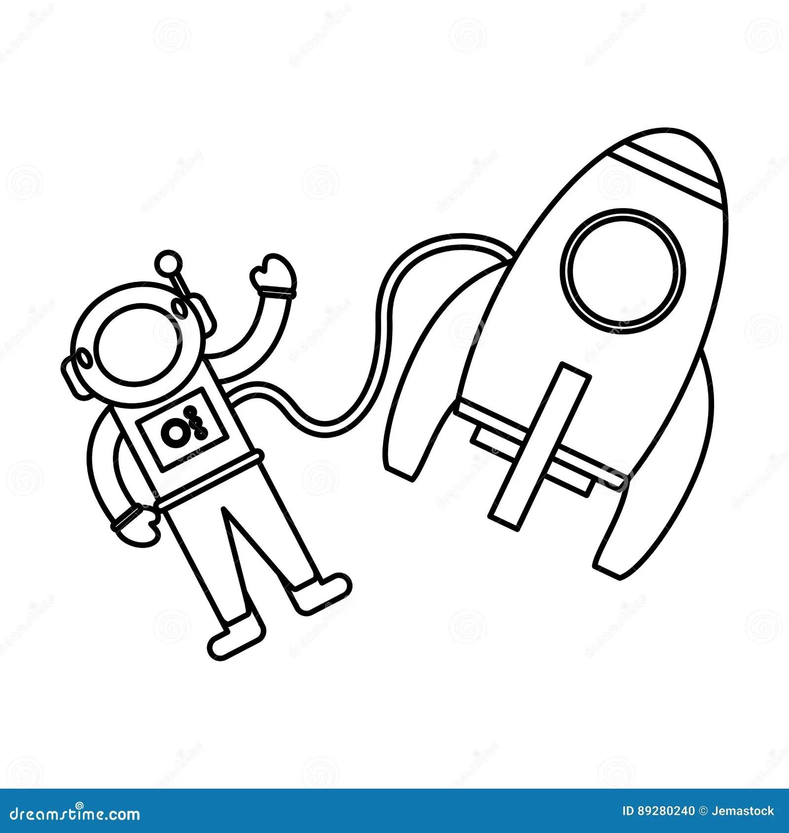 Astronaut Rocket Exploration Space Royalty-Free