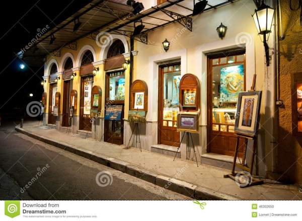 Athens-august 22 Art Night In Plaka Area