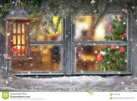 Atmospheric Christmas Window Sill Decoration Stock Photo ...