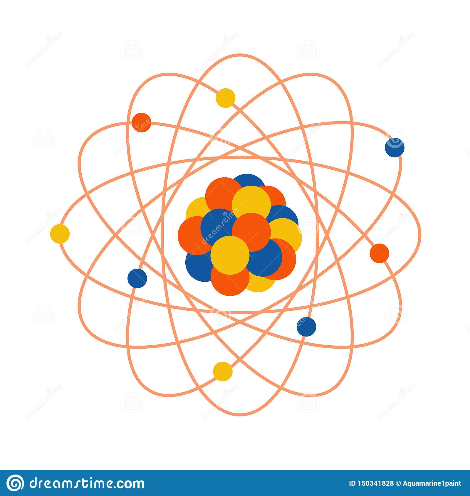 Atom Structure Science Day Education Nuclear Stock