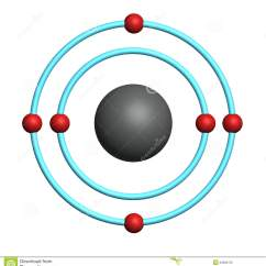 Neon Atom Diagram 5 Pin Trailer Plug Wiring Australia Atome De Carbone Sur Le Fond Blanc Illustration Stock - Image: 22685723