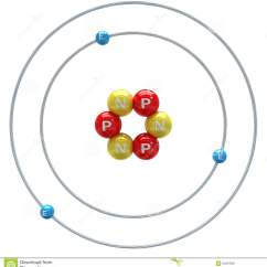 Francium Atom Diagram Goodman Heat Pump Package Unit Wiring Atome De Lithium Sur Le Fond Blanc Illustration Stock