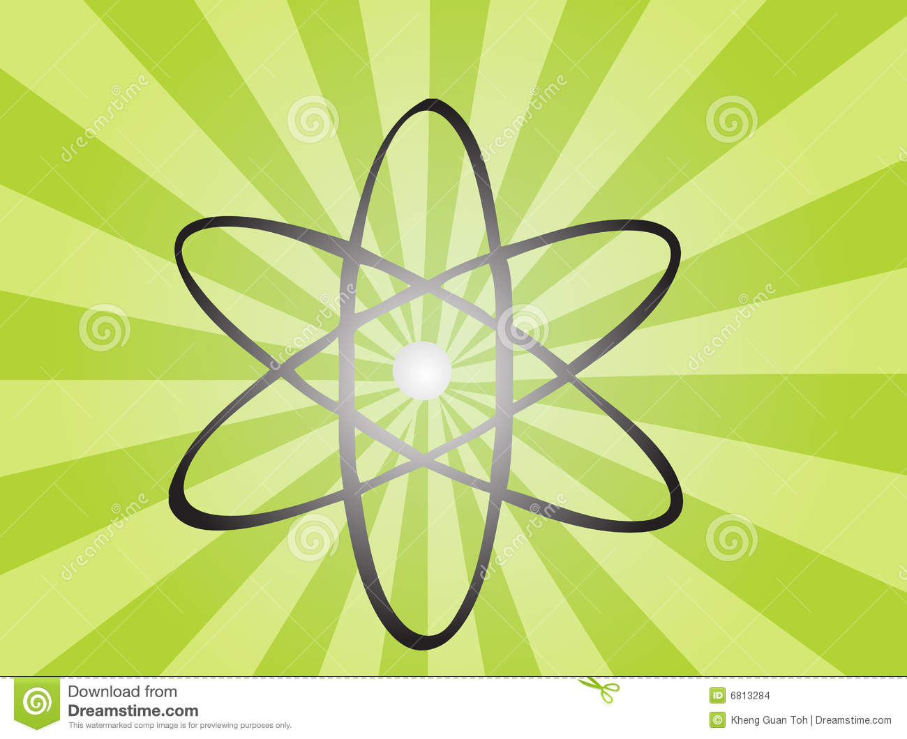 Atomic Symbol Stock Vector Illustration Of Chemical
