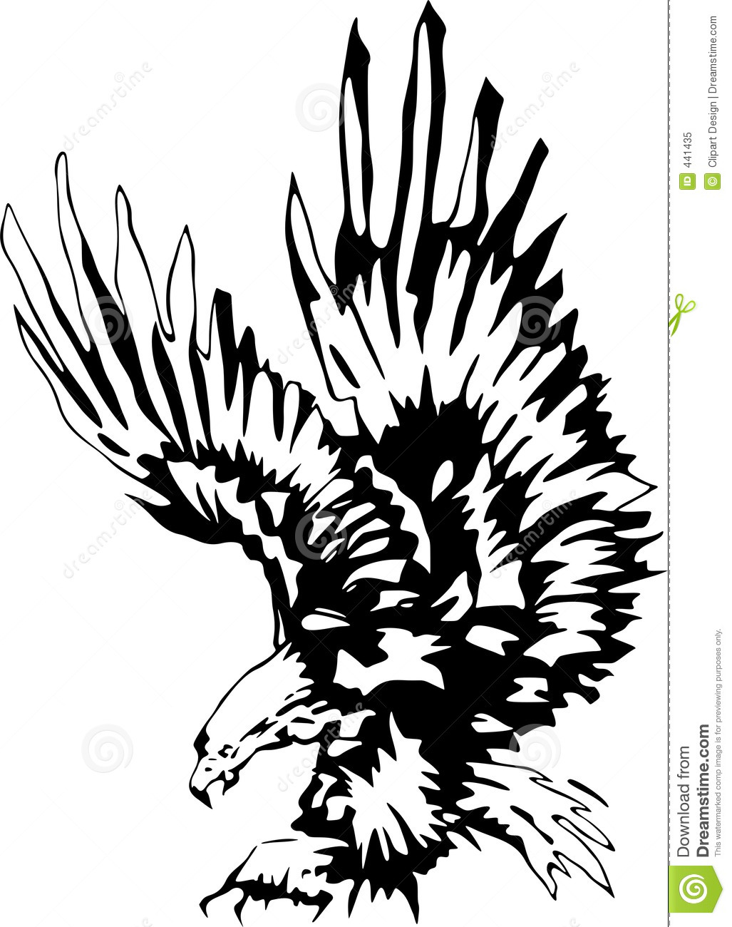 Attacking Eagle 3 stock illustration. Image of clip