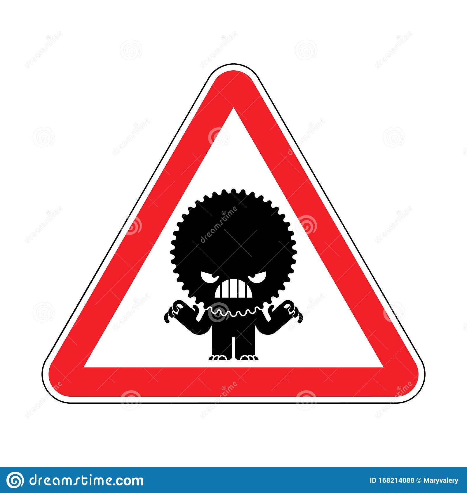 Attention Stress Warning Red Road Sign Caution Hatred
