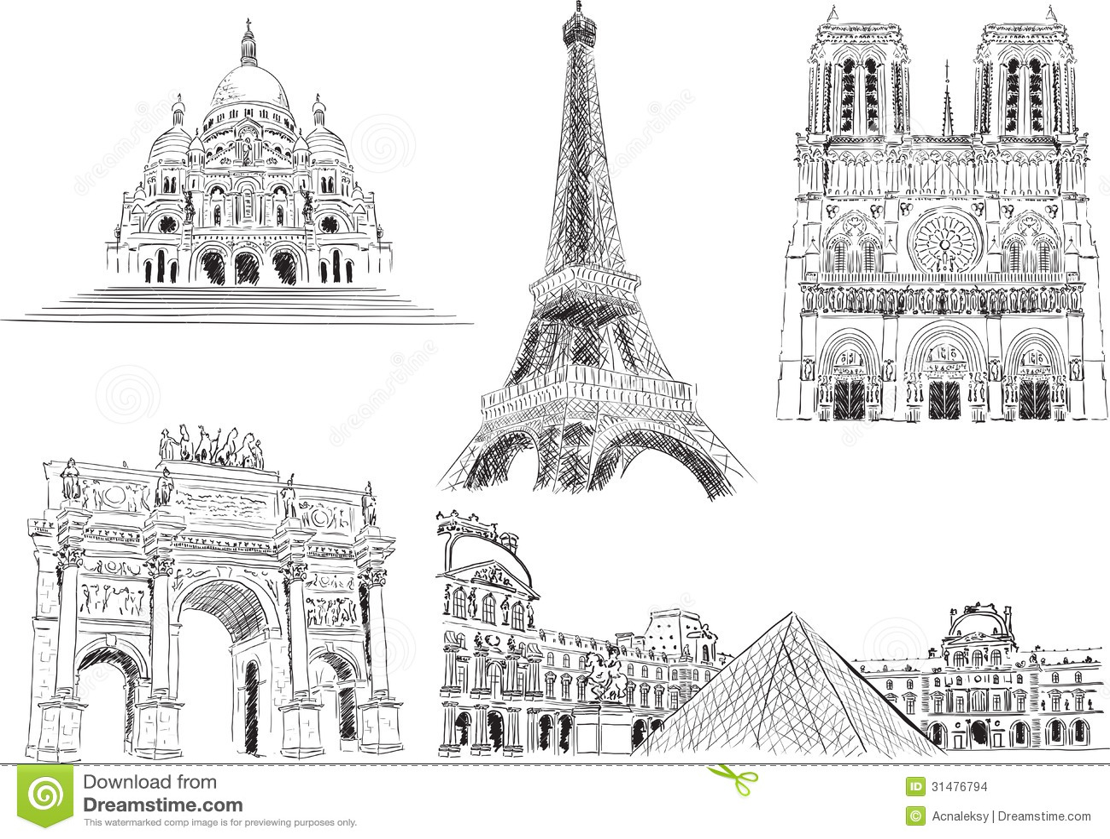 Attractions De Paris France Images Stock