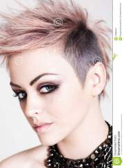 attractive young woman with punk