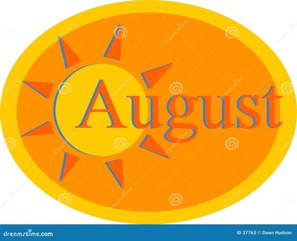 August Stock Vector. Illustration Of Holidays Heat