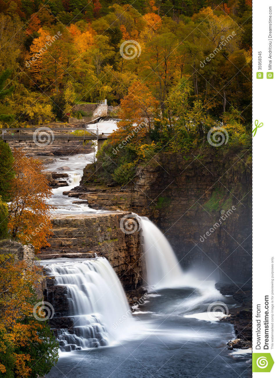 Ausable Chasm Waterfall Royalty Free Stock Photo Image