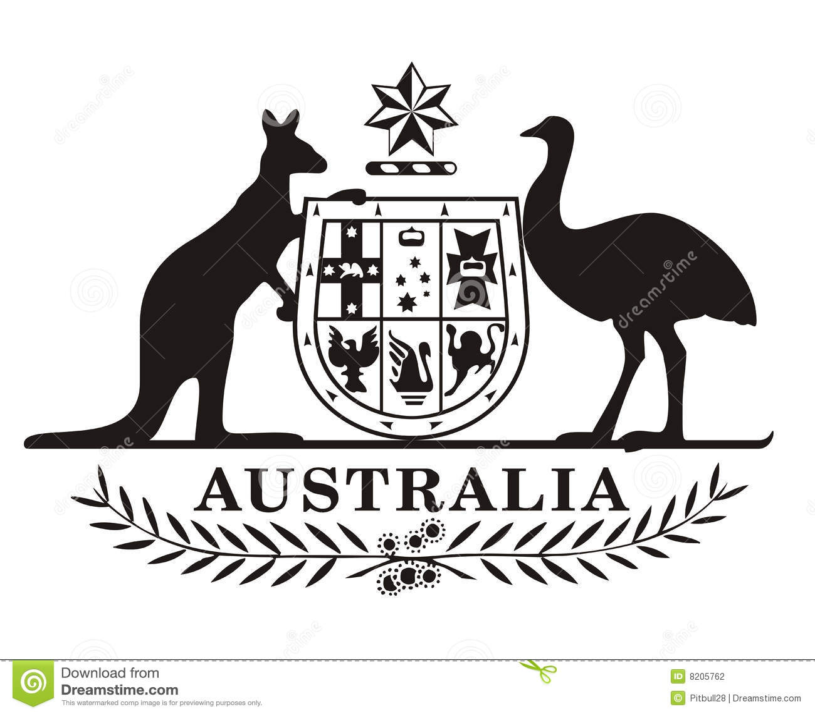 Stock Photography: Australia coat of arms. Image: 8205762