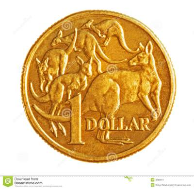 Australian $1 Coin stock image. Image of coin, money ...