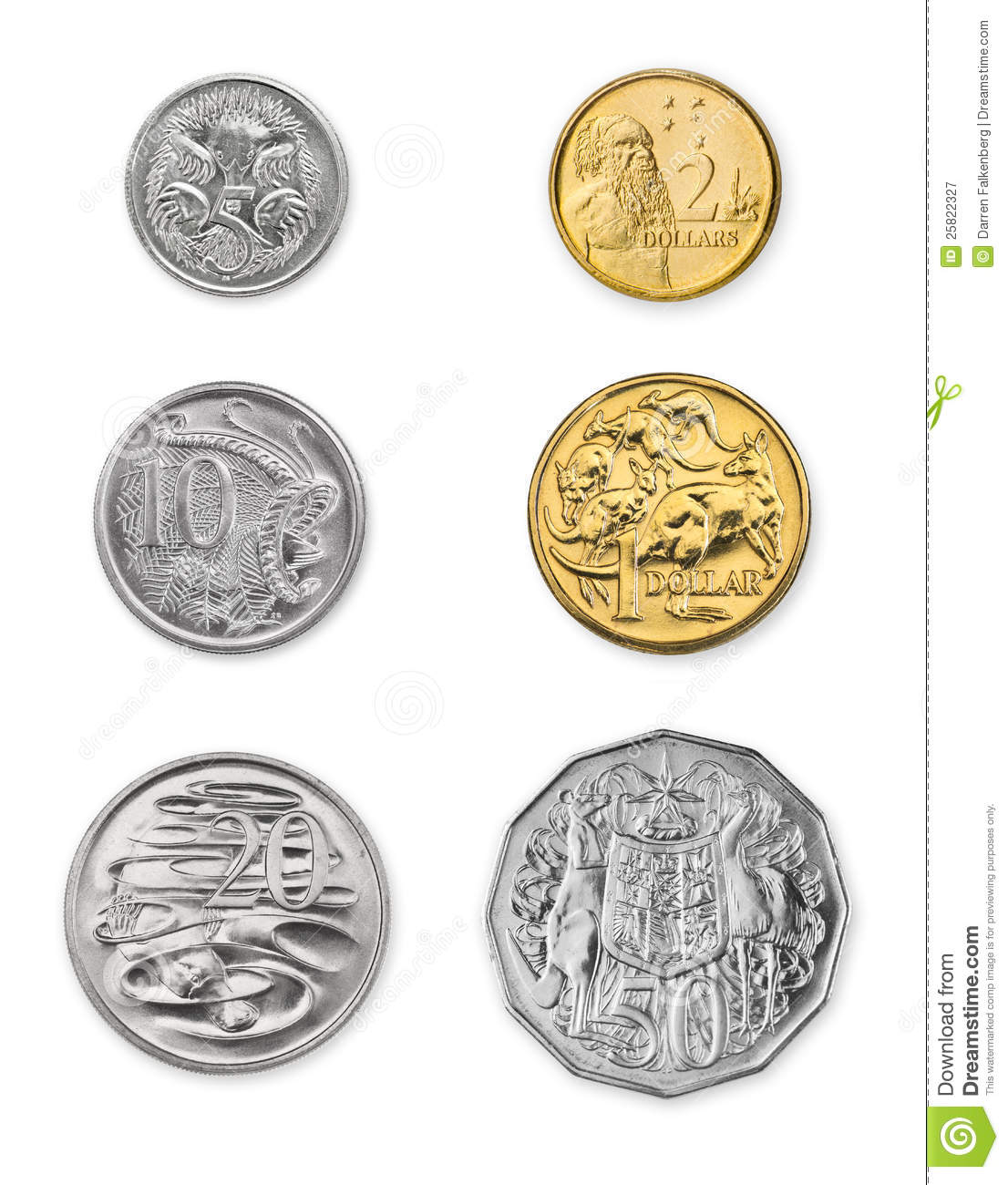 Australian Coins Stock Image Image Of Financial Wealth