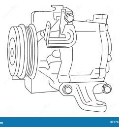 auto air conditioner compressor draft [ 1300 x 957 Pixel ]