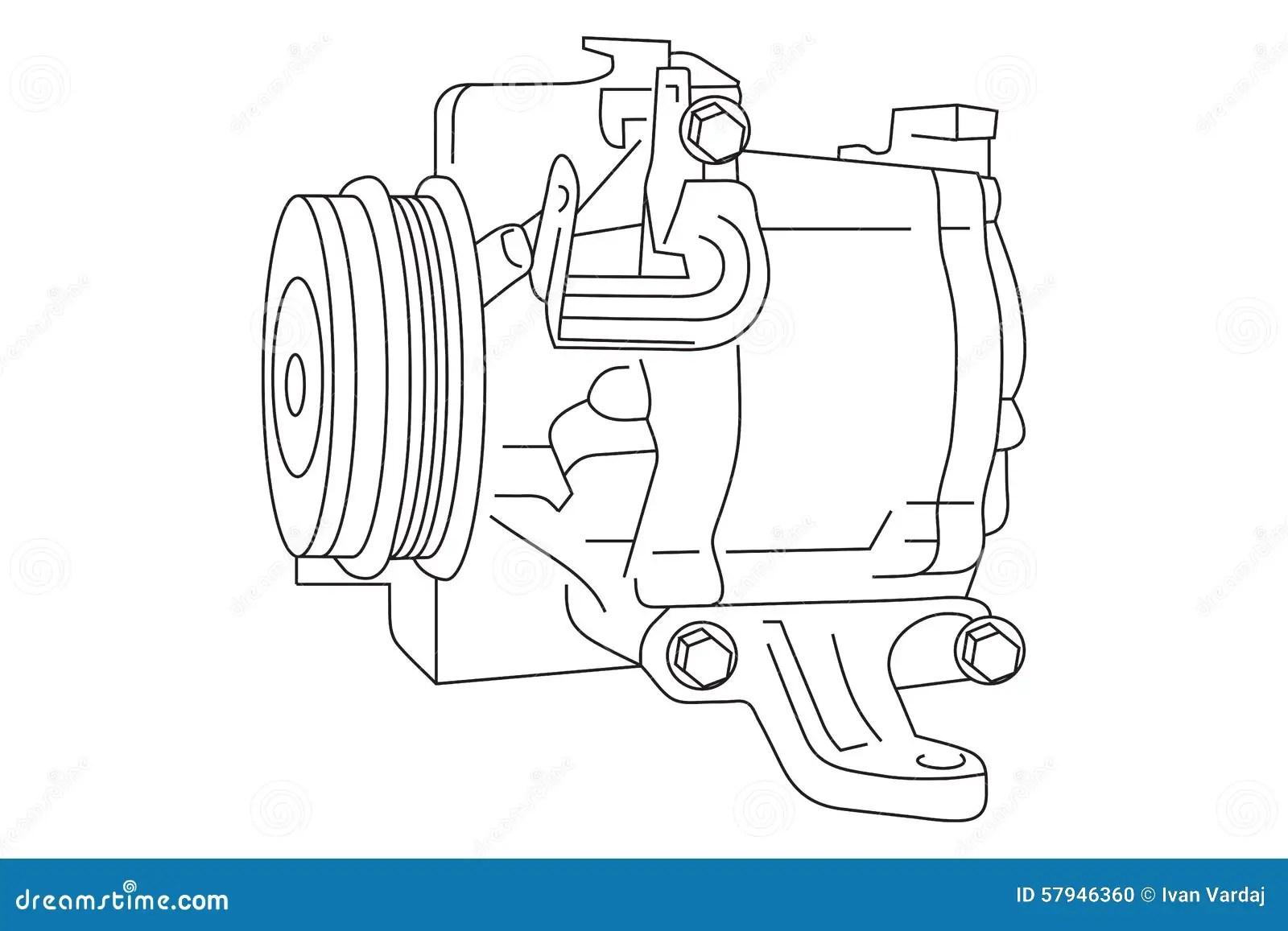 hight resolution of auto air conditioner compressor draft