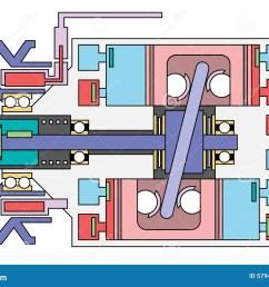 auto air conditioner compressor schematic stock vector ac compressor wiring schematic ac compressor schematic [ 1300 x 957 Pixel ]