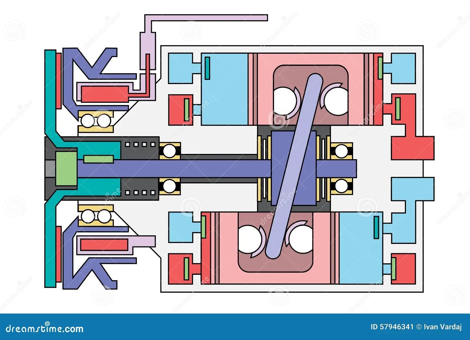 hight resolution of auto air conditioner compressor schematic stock vector ac compressor wiring schematic ac compressor schematic