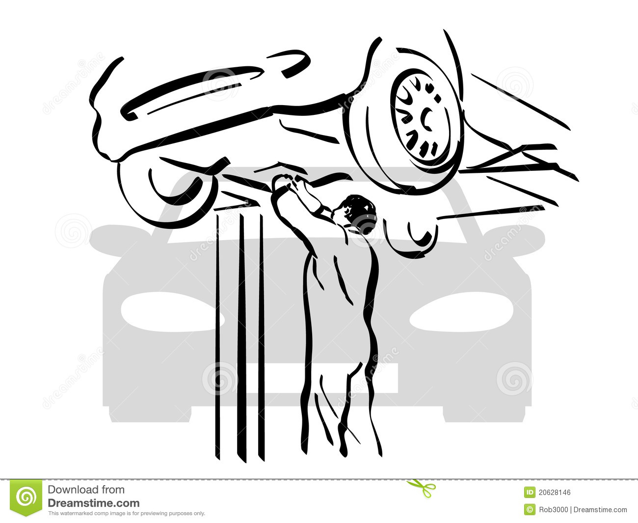 Auto Repair Stock Vector Illustration Of Structure