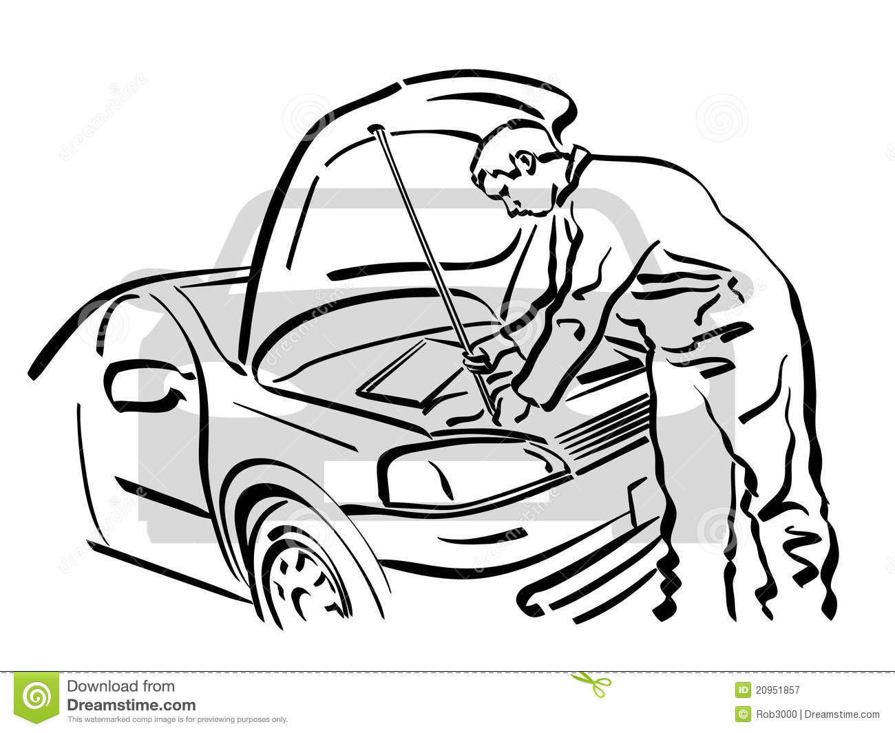 Auto Repair Royalty Free Stock Photography