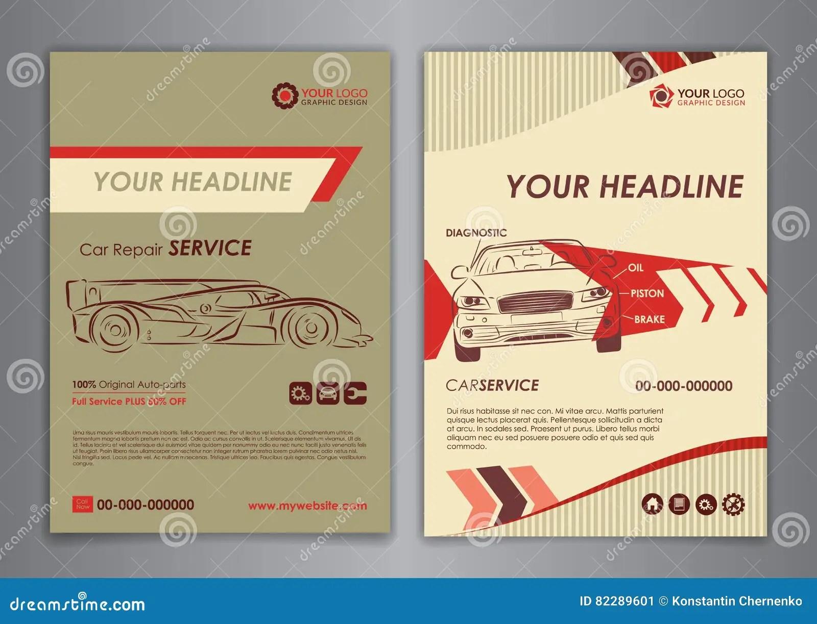 auto repair brochure templates