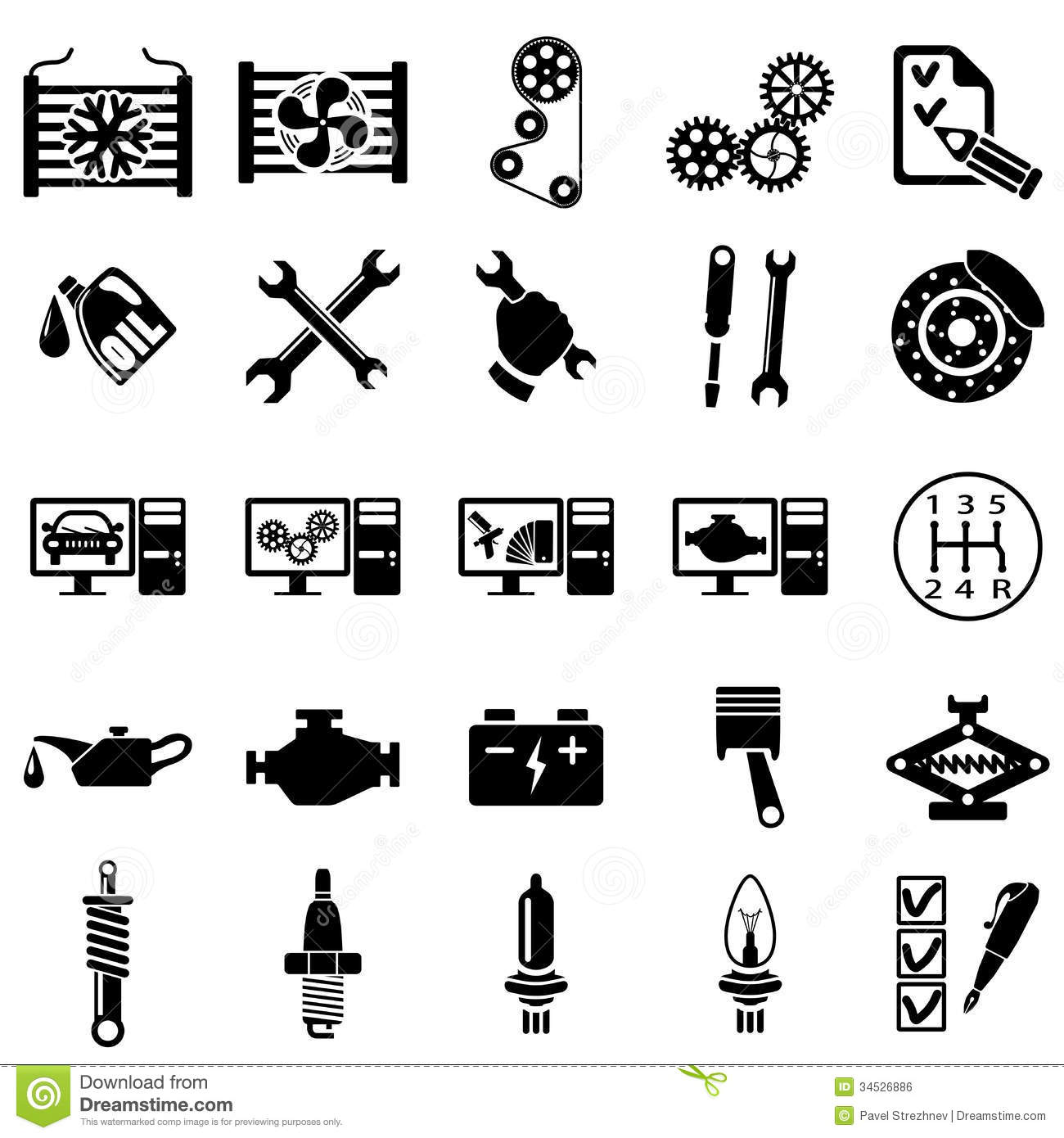 Auto repair Icons stock vector. Illustration of repair