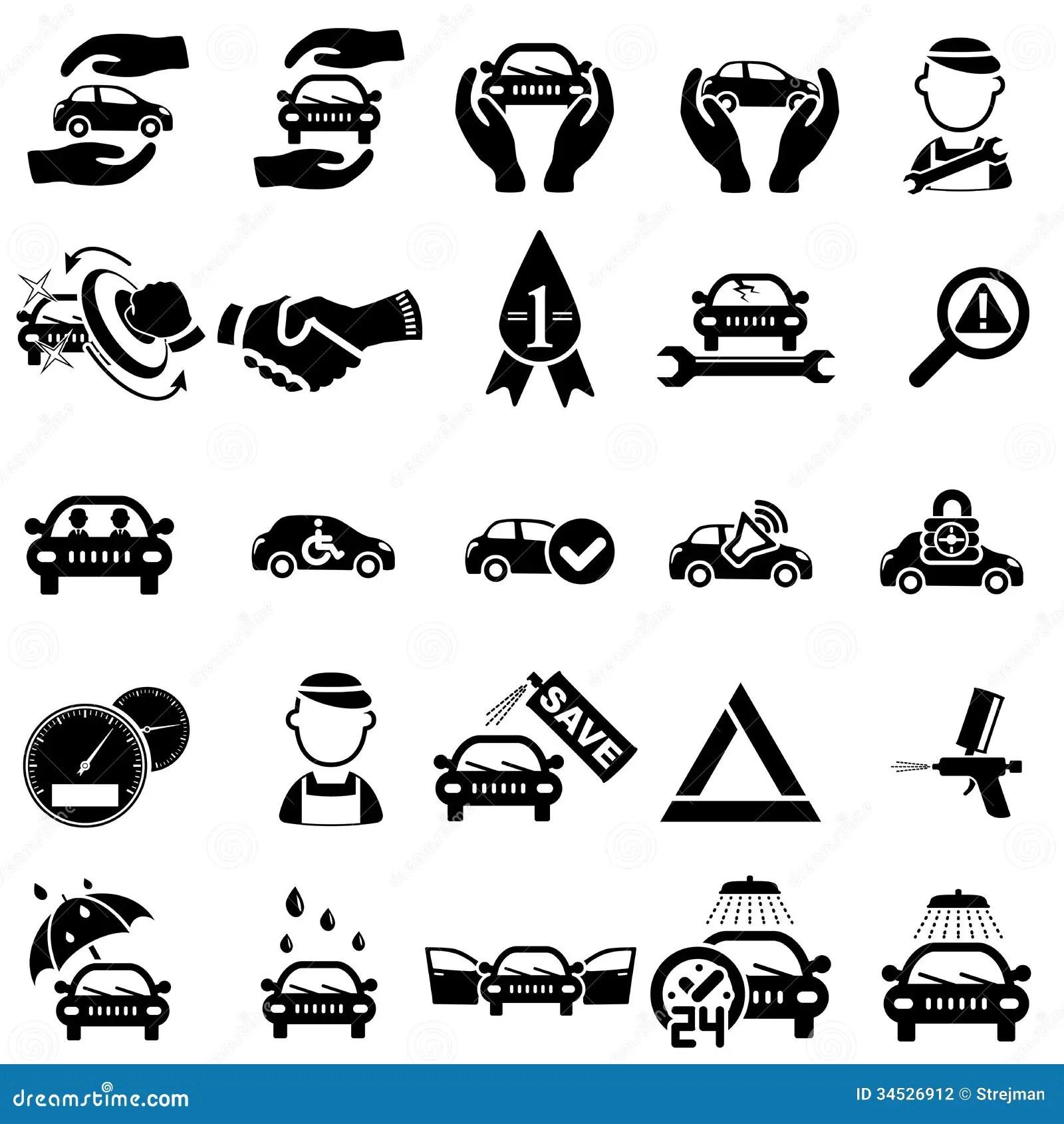 Auto repair Icons stock vector. Illustration of auto
