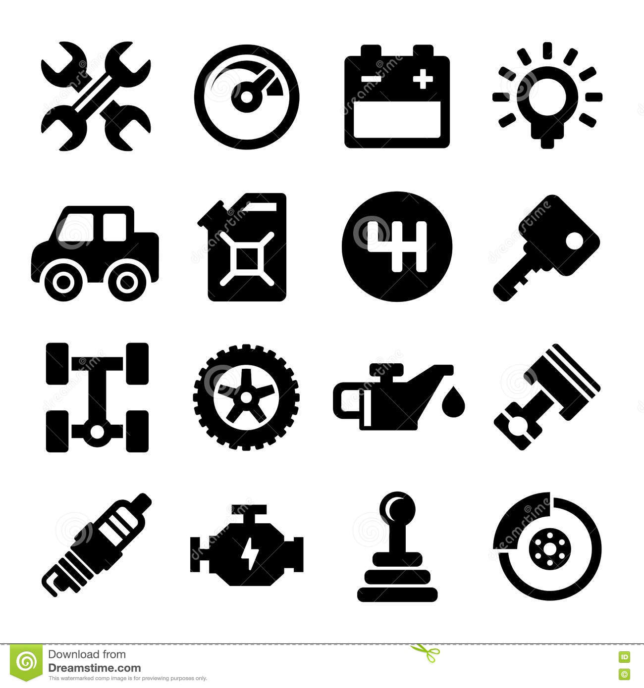 Auto Repair Service Icons stock vector. Illustration of