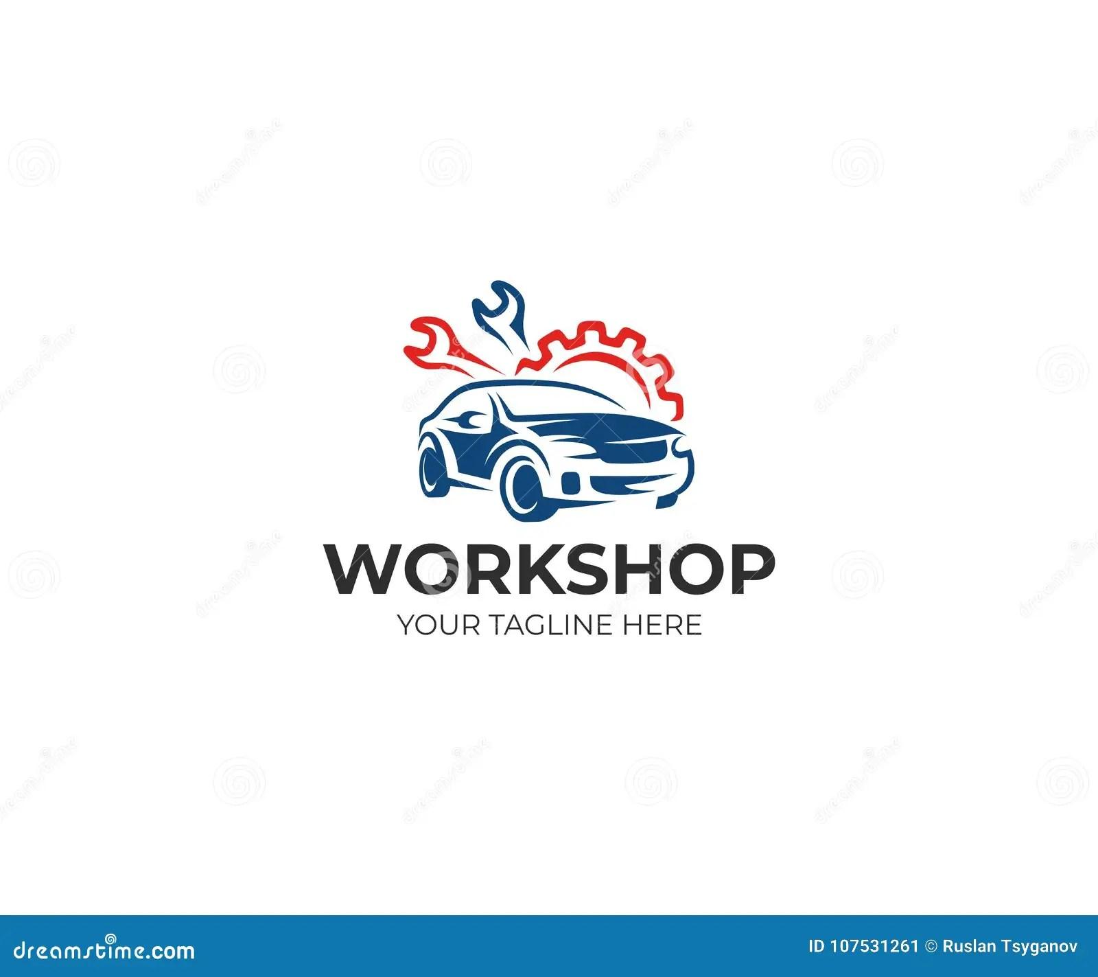 Auto Workshop Logo Template. Auto Service Vector Design