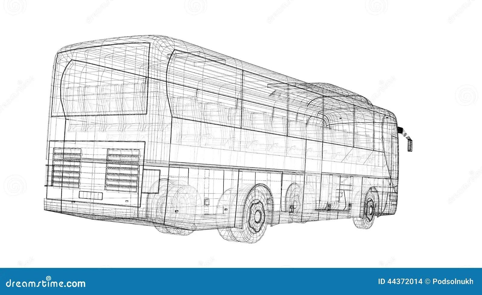Autobus stock illustration. Illustration of freight