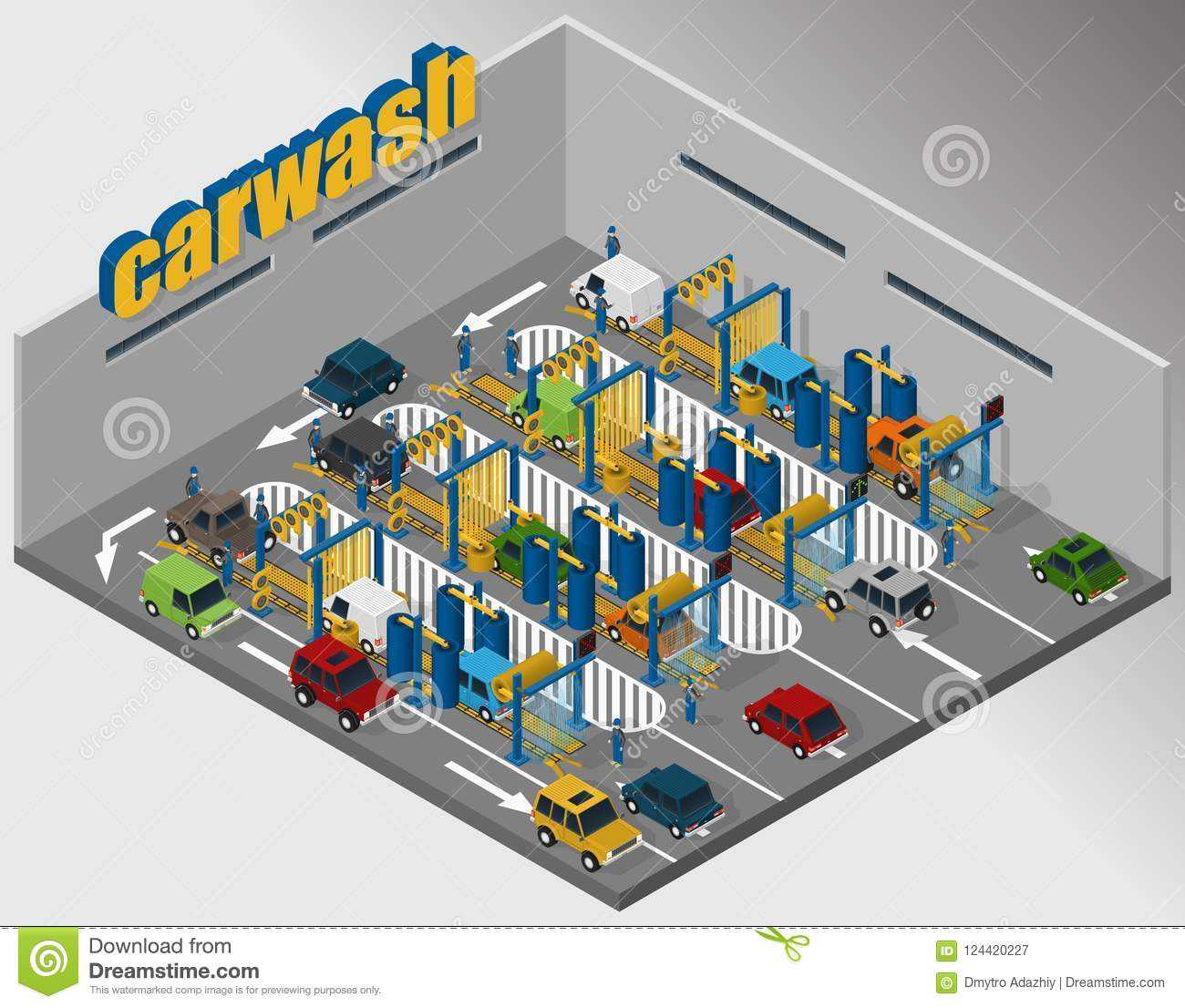 hight resolution of automatic tunnel car wash