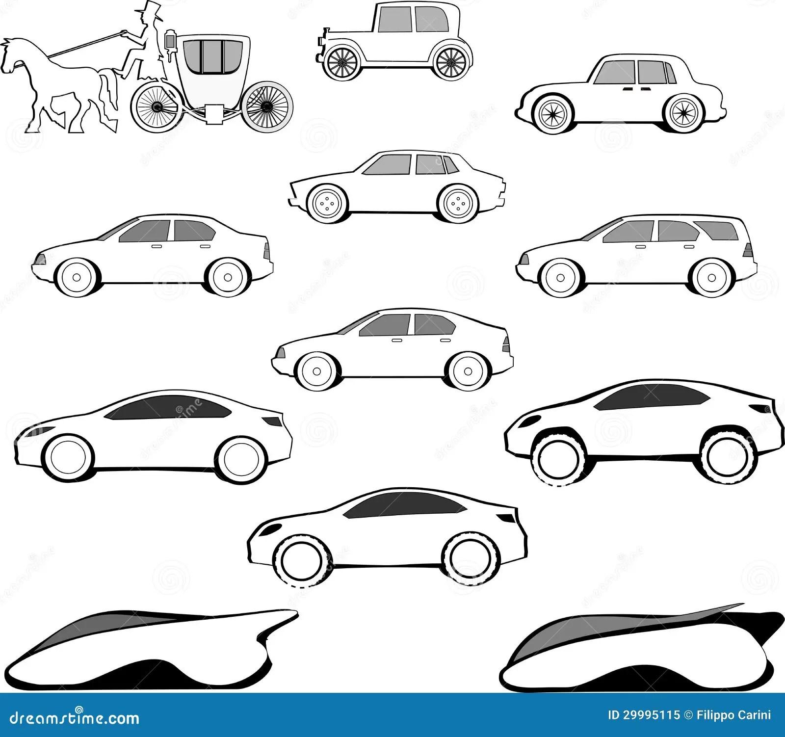 Century Car Evolution Stock Illustration Illustration Of