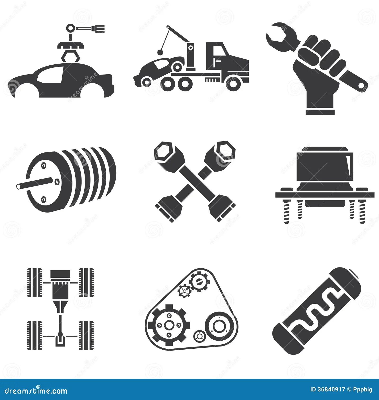 Automotive icons stock illustration. Illustration of